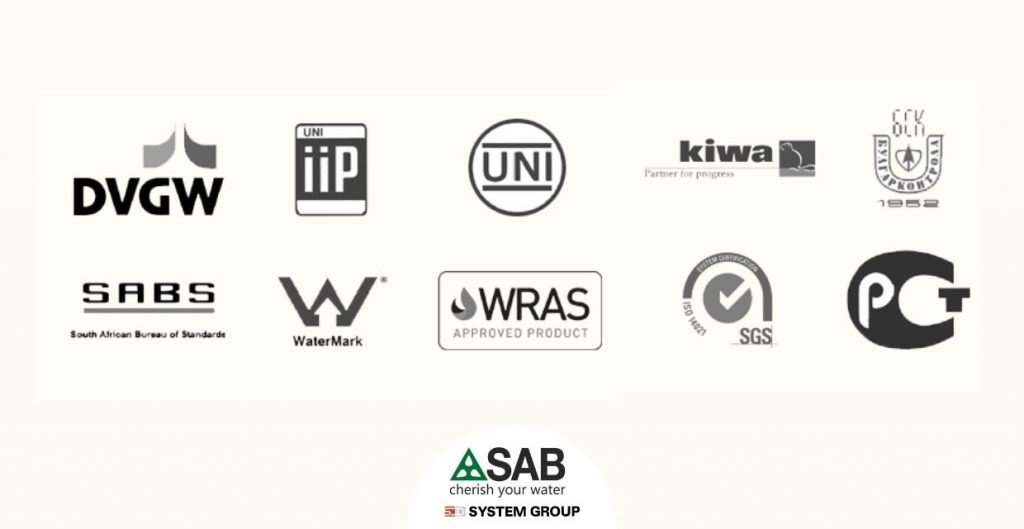 SAB Quality certifications